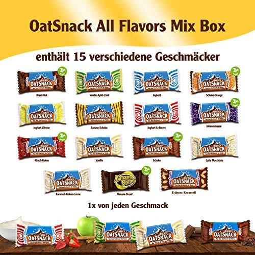 Oat Snack Riegel, Mix Box, Alle Geschmacksrichtgungen, 15x65g (975g) -